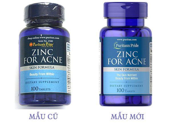 Viên uống ZinC for Acne - Bổ sung kẽm, ngừa mụn của Mỹ, Giá tốt