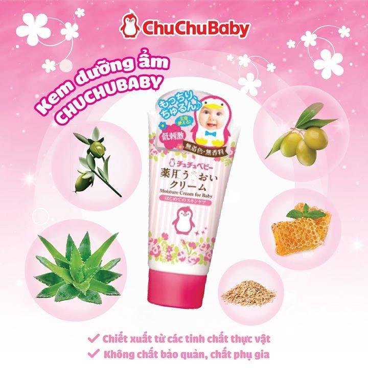 Ưu điểm nổi bật của kem dưỡng ẩm Chuchu Baby