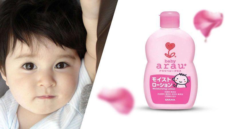 Sữa dưỡng ẩm Arau Baby nhẹ dịu với da bé
