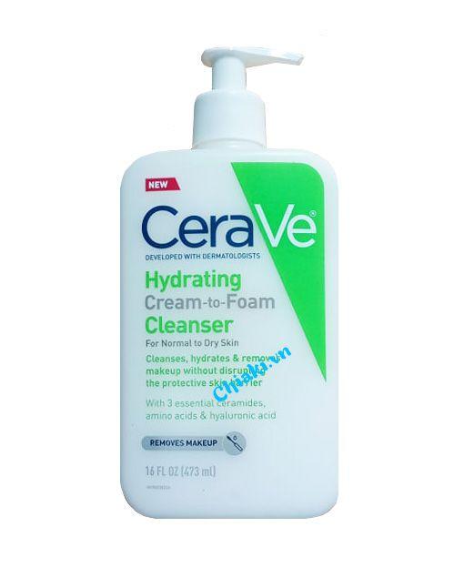 Sữa rửa mặt CeraVe Hydrating Cleanser 473ml