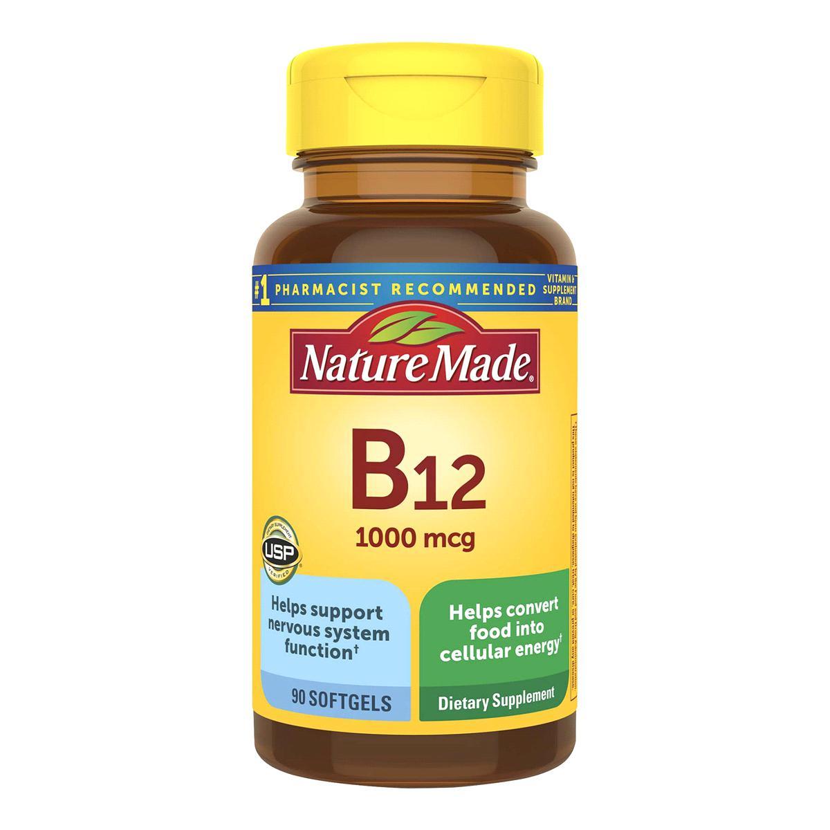 Viên bổ sung Vitamin B12 Nature Made 1000 mcg của Mỹ hộp 90 viên mẫu mới