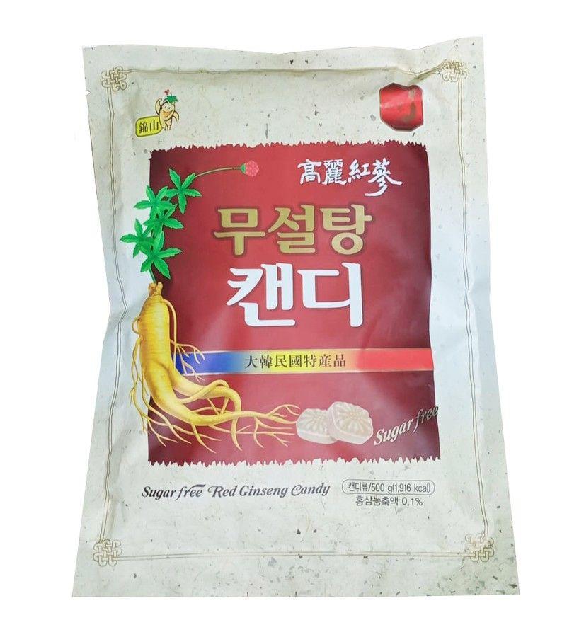 Kẹo hồng sâm không đường Korea Red Ginseng gói 500g