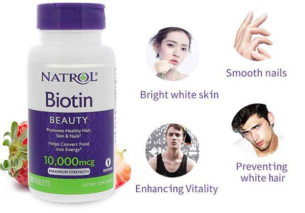 Công dụng Biotin Natrol 10000mcg