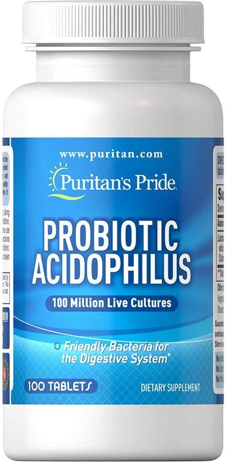 Men vi sinh Probiotic Acidophilus Puritan's Pride hỗ trợ đường ruột