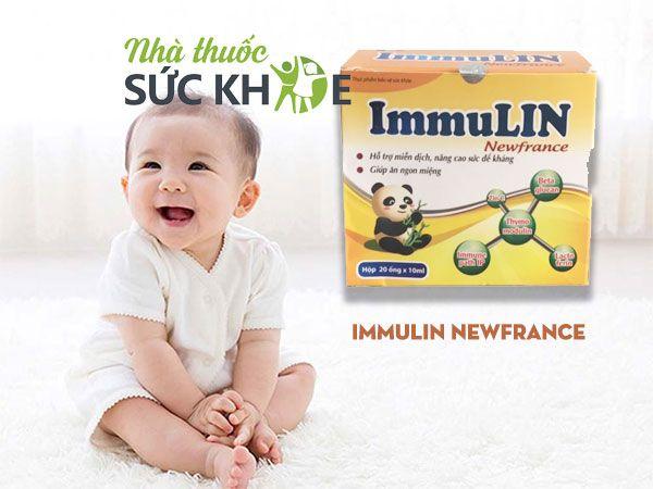 Ưu điểm của tăng cường đề kháng ImmuLin Newfrance
