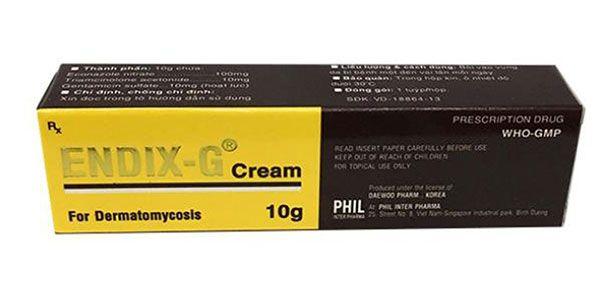 Công dụng Thuốc da liễu Endix-G điều trị các bệnh về da 10g, Giá tốt
