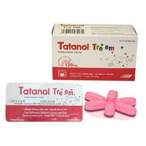 Công dụng của Thuốc hạ sốt Tatanol trẻ em 120mg