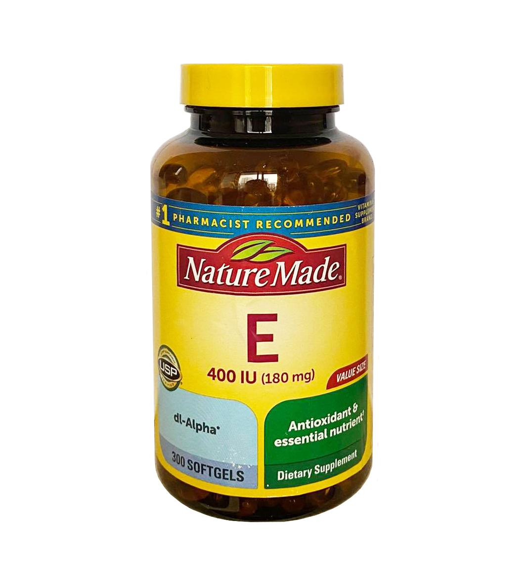 Vitamin E 400 iu Nature Made 300 viên
