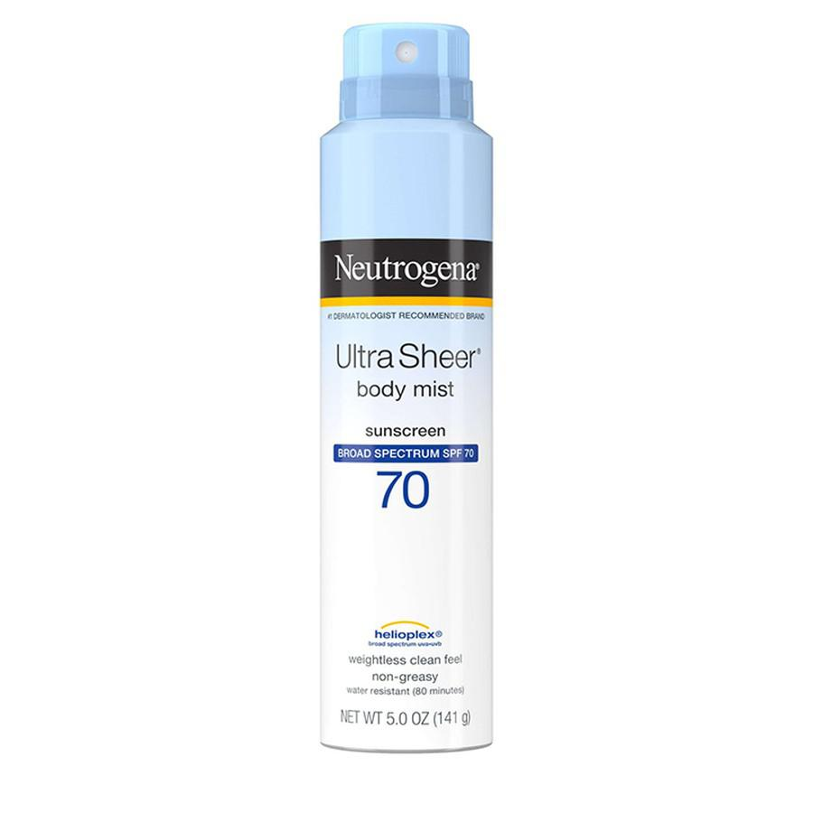 Xịt chống nắng toàn thân Neutrogena Ultra Sheer SPF70 141g