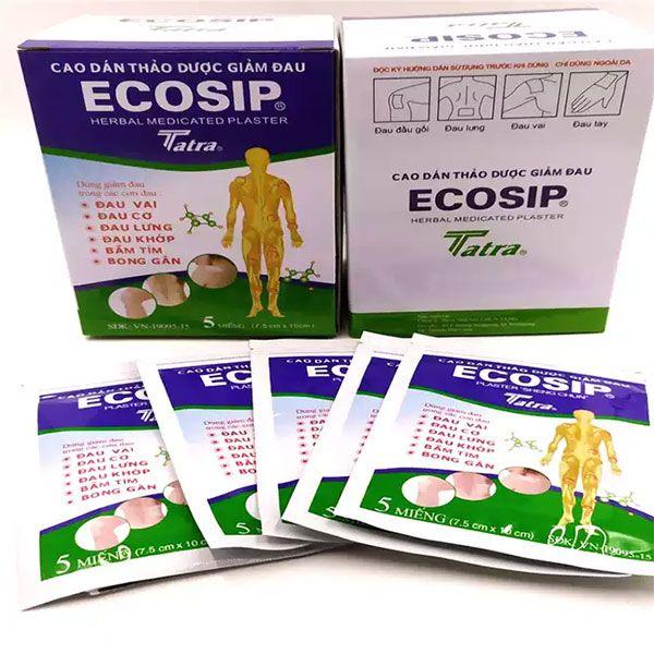 Công dụng Cao dán thảo dược giảm đau Ecosip Tatra