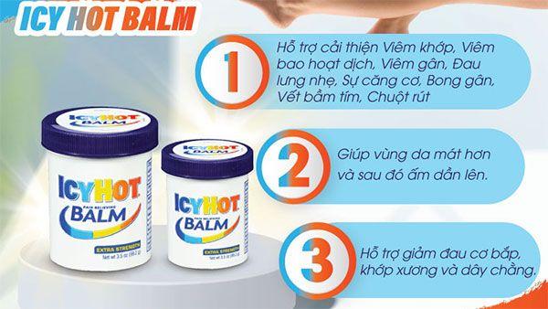 Ưu điểm Dầu xoa bóp giảm đau nhức Icy Hot Balm Pain Relieving