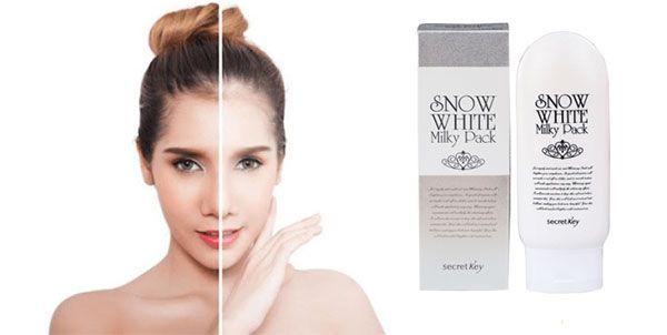 Tác dụng kem tắm trắng Snow White Milky Pack Hàn Quốc