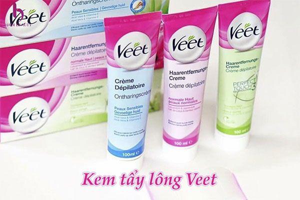 Kem tẩy lông Veet Silk & Fresh có mấy loại?