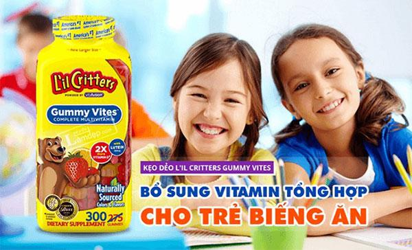 Kẹo Dẻo Lil Critter Gummie Vite bổ sung Vitamin Cho Trẻ Biếng Ăn 2 - 4 Tuổi