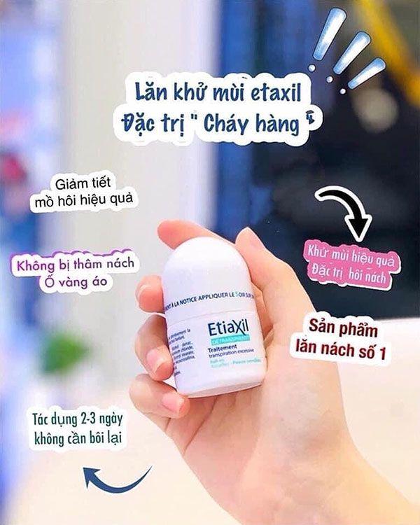 Lăn khử mùi hôi nách Etiaxil có tốt không?