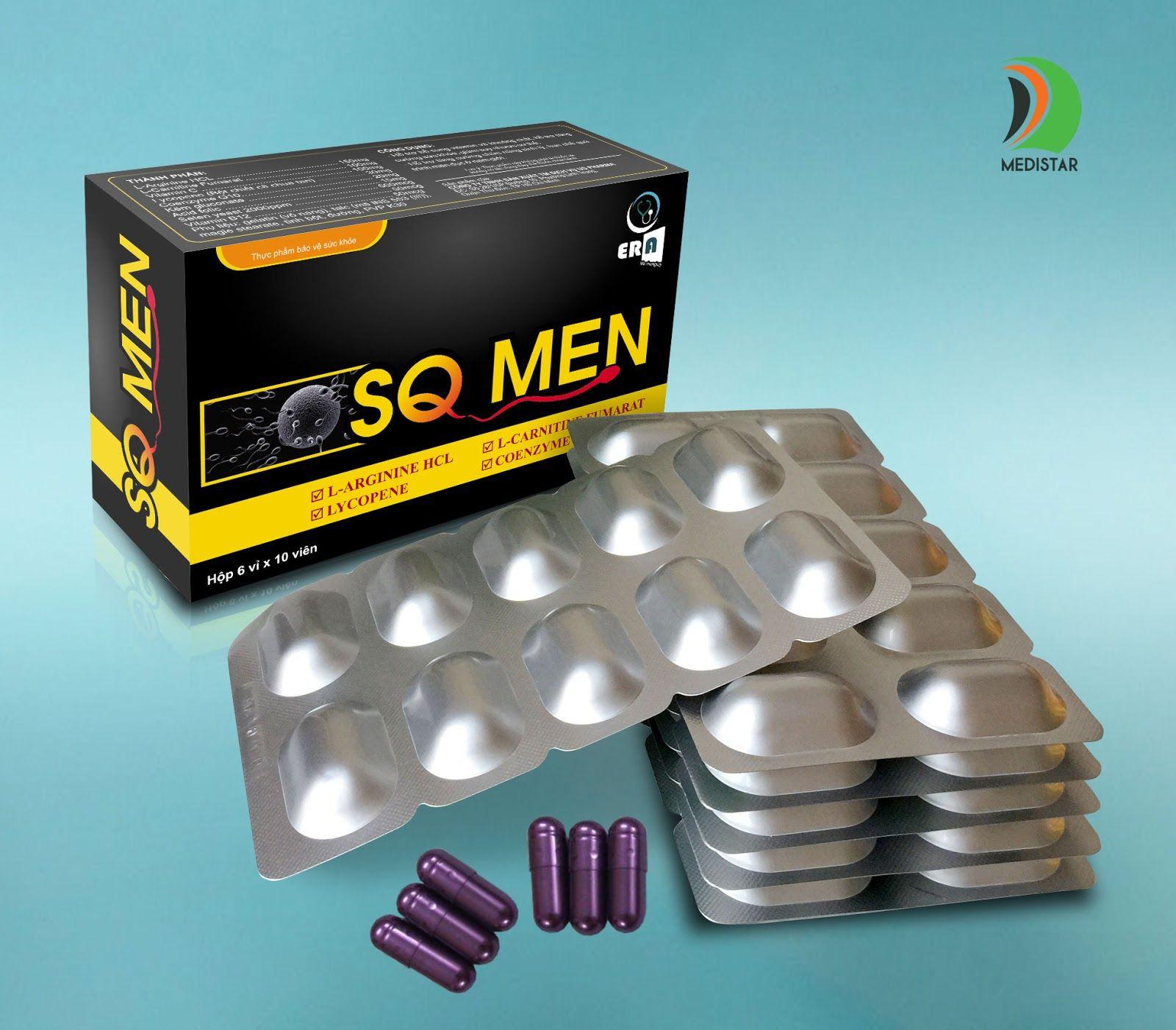 Viên uống SQ Men hỗ trợ sức khỏe sinh sản cho nam giới