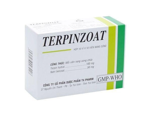 Thành phần thuốc ho, long đờm Terpinzoat