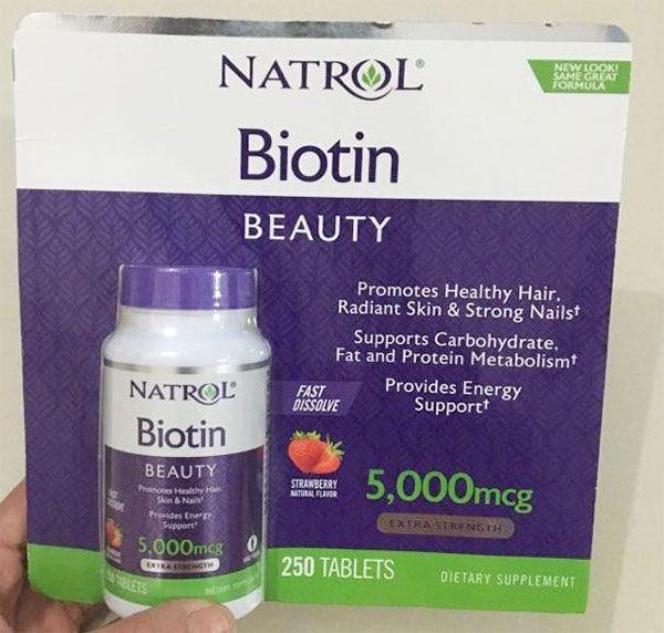 Thành phần Viên ngậm Natrol Biotin 250 viên - 5000 mcg