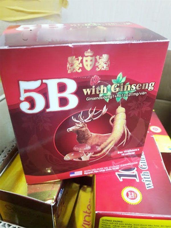 Công dụng Viên uống 5B with Ginseng bổ sung vitamin nhóm B, bồi bổ cơ thể