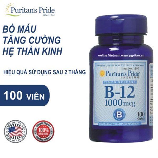 Công dụng của Viên uống Puritan's Pride Vitamin B-100 Complex