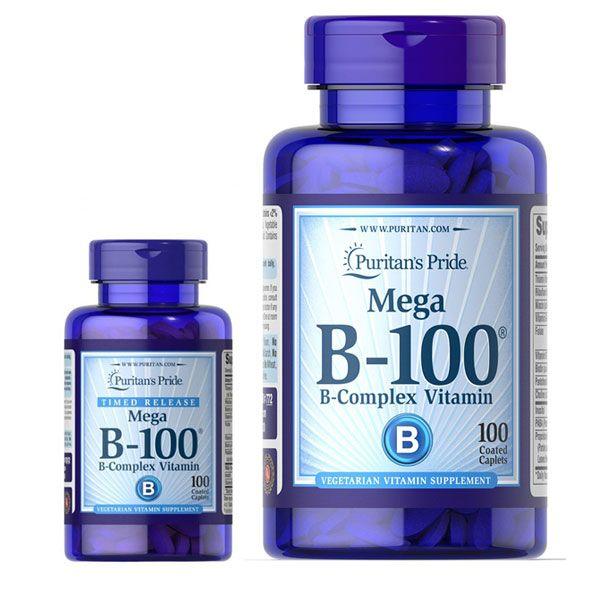 Viên uống Puritan's Pride Vitamin B-100 Complex hộp 100 viên