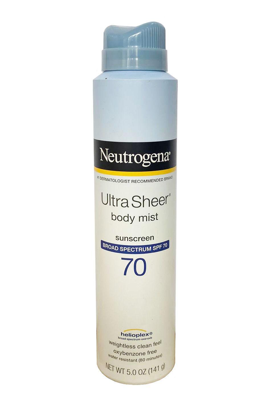 Xịt chống nắng toàn thân Neutrogena Ultra Sheer SPF70 141g (mẫu mới)