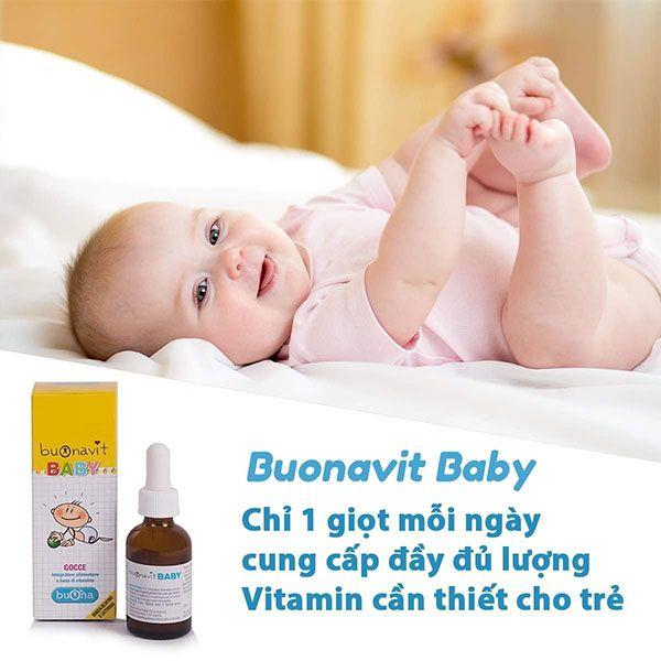 Tại sao nên bổ sung Vitamin tổng hợp Buonavit Baby cho bé?