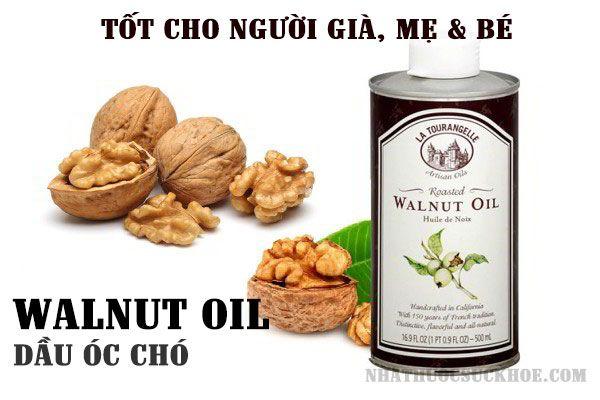Công dụng của dầu hạt óc chó Walnut Oil 500ml