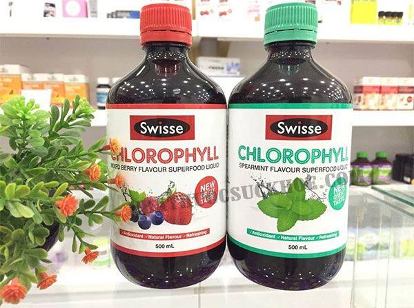 Ưu điểm nước diệp lục Swisse Chlorophyll