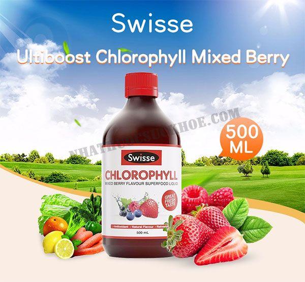 Thành phần của Nước Diệp Lục Swisse Chlorophyll