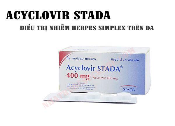 Công dụng của thuốcAcyclovir stada