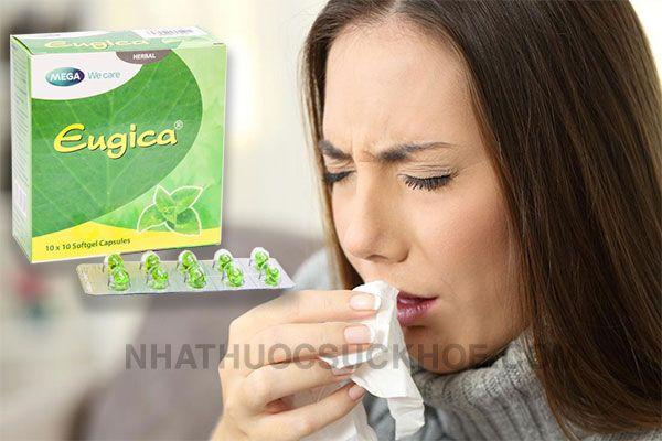 Công dụng Thuốc Eugica - Thuốc trị các chứng ho, đau họng, sổ mũi