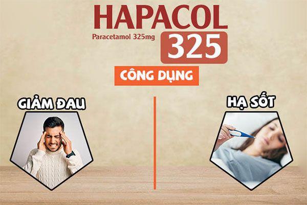 Công dụng của thuốc Hapacol 325mg