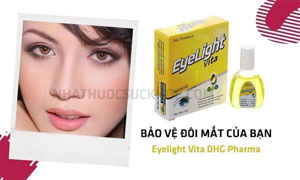 Công dụng của Nước nhỏ mắt Eyelight Vita DHG Pharma