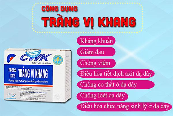 Công dụng của thuốc cốm Tràng Vị Khang