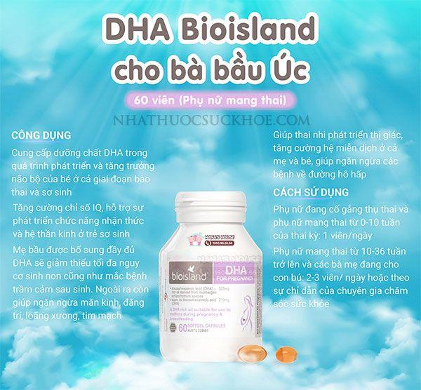 DHA Bio Island có tốt không? Vì sao mẹ nên dùng?