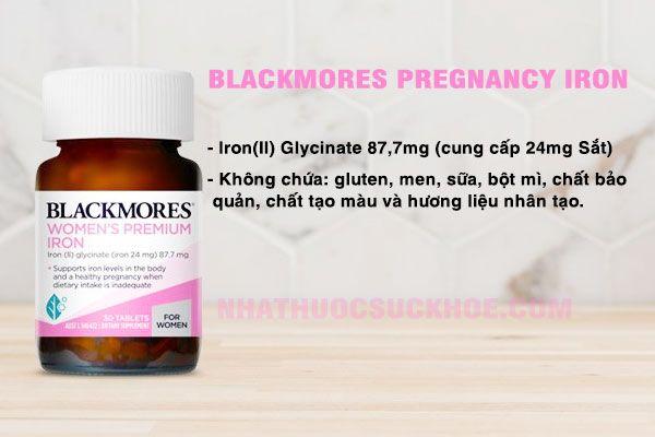 Thành phần Blackmores Pregnancy Iron