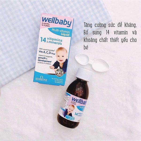 Ưu điểm Vitamin tổng hợp tăng sức đề kháng cho bé - WELLBABY