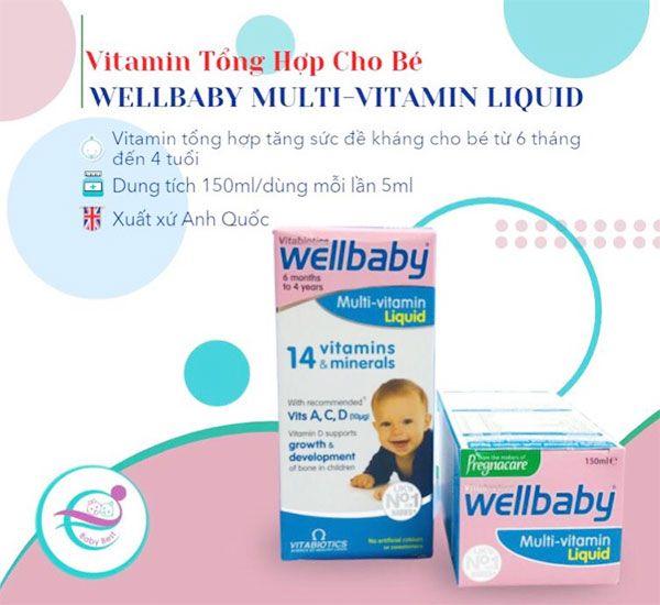 Tác dụng WELLBABY - Vitamin tổng hợp tăng sức đề kháng cho bé