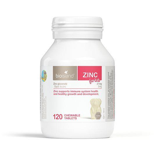 Bio Island Zinc hỗ trợ bổ sung kẽm cho trẻ từ 1 tuổi trở lên