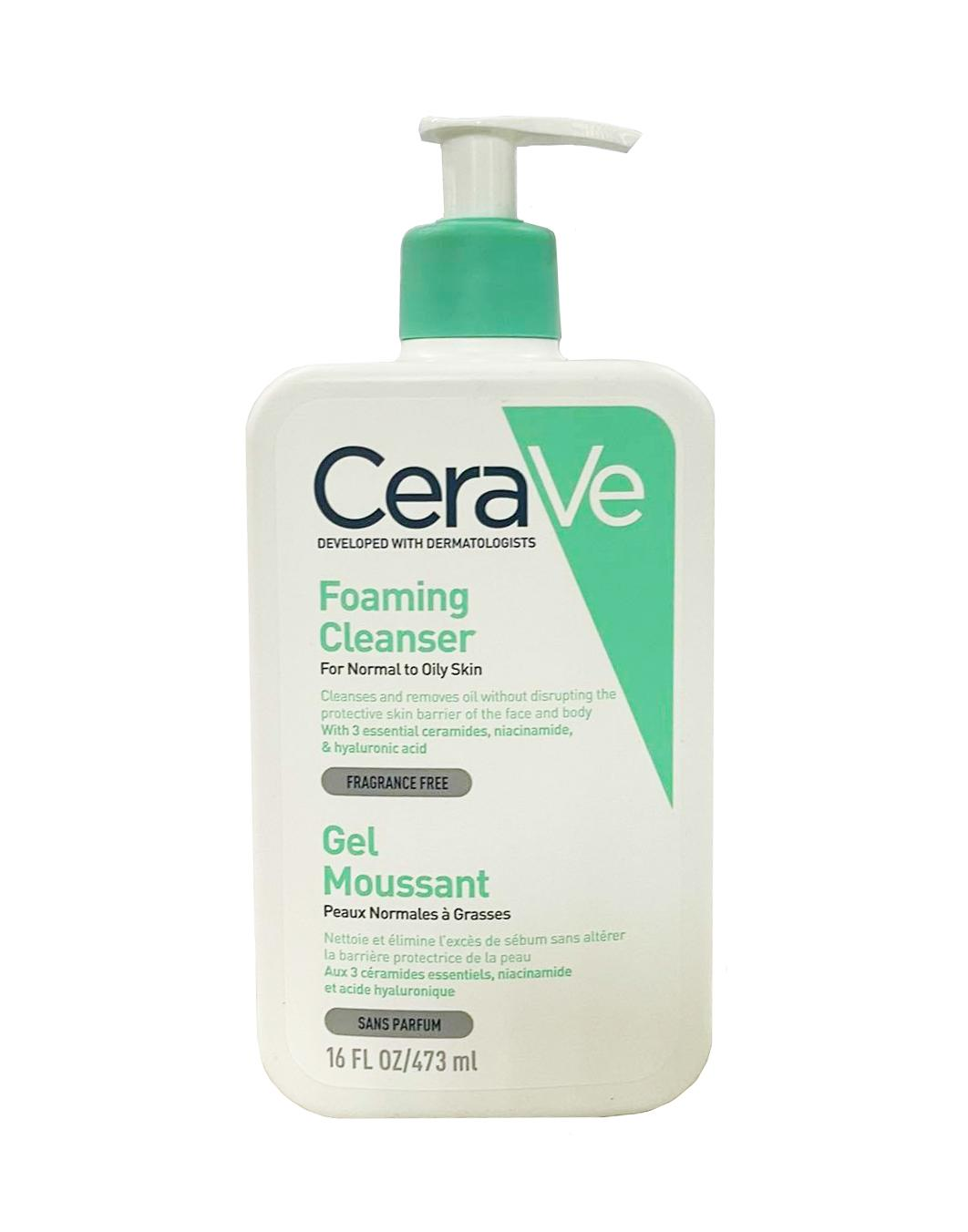 Sữa rửa mặt CeraVe Foaming Facial Cleanser loại 473ml