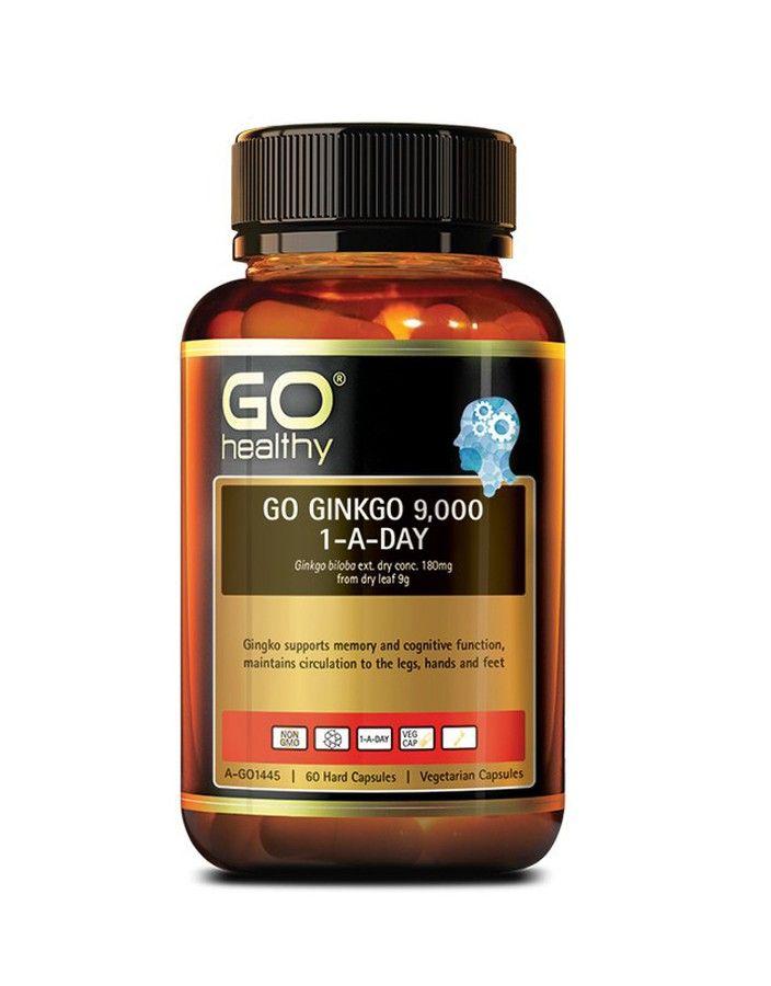 Viên uống Go Ginkgo 9000+ hỗ trợ tăng cường trí nhớ, bổ não