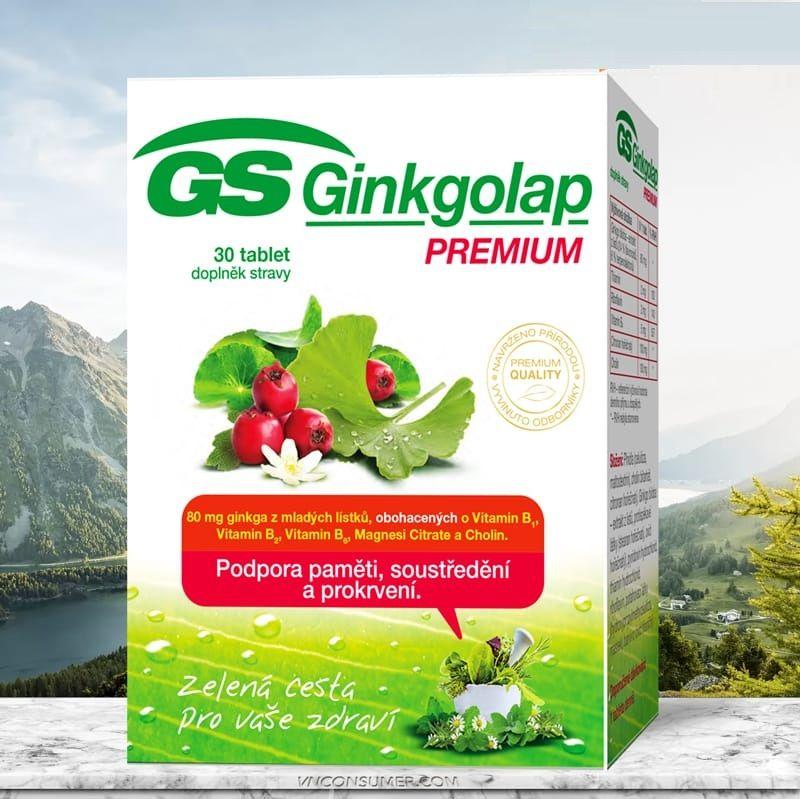 Viên uống GS Ginkgolap Premium hỗ trợ cải thiện hiệu quả đau nhức đầu, căng thẳng, mệt mỏi
