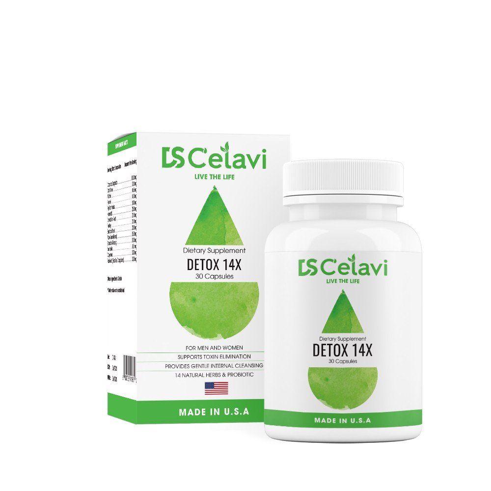 Viên uống Ds C'elavi Detox 14x hỗ trợ tiêu hóa