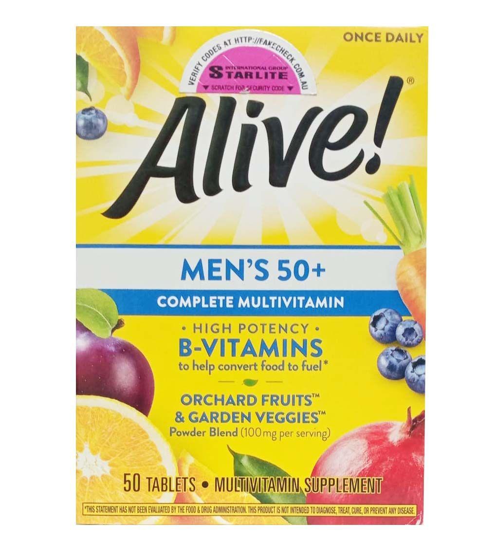 Vitamin tổng hợp Alive Men's 50+ cho nam giới trên 50 tuổi, 50 viên của Mỹ