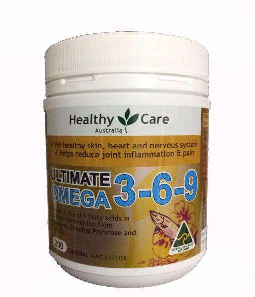 Omega 3 6 9 Healthy Care hộp 200 viên của Úc