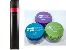 Combo Gôm xịt tóc Luxurious và sáp Kanfa cho phái mạnh
