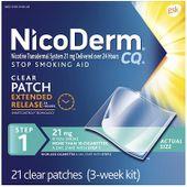 Miếng dán cai thuốc lá NicoDerm CQ hiệu quả (21 miếng)