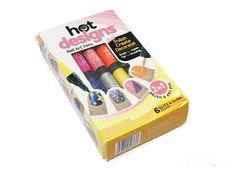 Bộ vẽ móng tay Hot Designs 6 màu xinh xắn