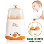 Máy hâm sữa tiệt trùng đa năng 2 bình Fatzbaby FB3011SL